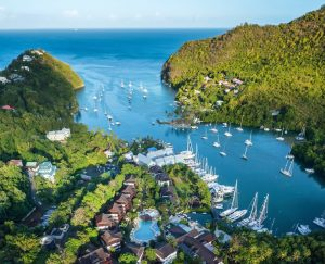 Great sea views of St. Lucia